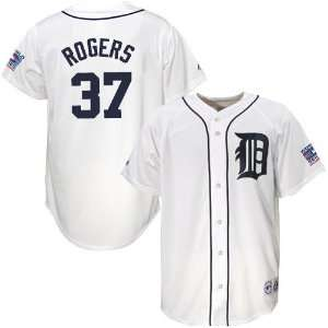 Majestic Detroit Tigers #37 Kenny Rogers White World Series Replica