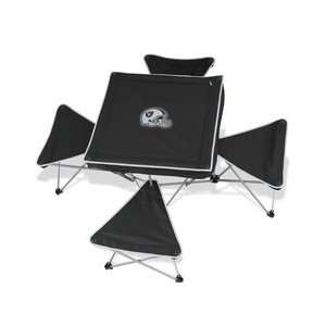 ... North Pole Oakland Raiders Folding Table And Stool: Home ...