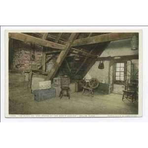 Reprint The Attic to The House of the Seven Gables, Salem, Mass 1898