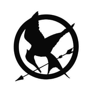 Mockingjay The Hunger Games Vinyl Decal Sticker BLACK