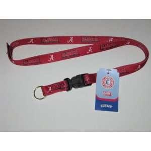 ALABAMA CRIMSON TIDE Team Logo 24 LANYARD Velcro Key Chain