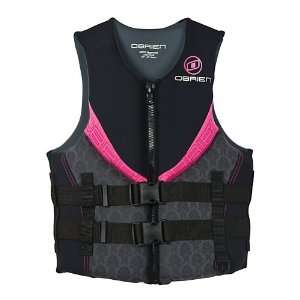 Obrien Womens Impulse Neoprene Vest (Black/Pink, X Small)