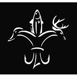 Duck Fish Deer Fleur De Lis Die Cut Vinyl Decal Sticker 5