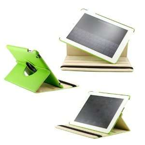 360 Degree Rotating Duel Layer Green Leather case with smart Cover