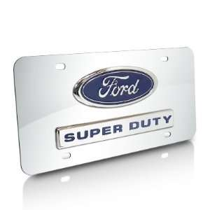 Ford Super Duty Logo and Nameplate Chrome Steel License