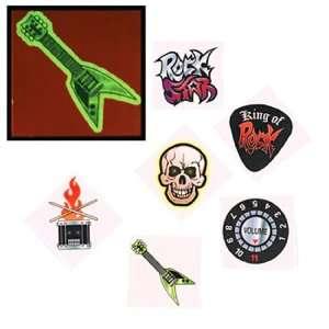 Glow in the Dark Rock Star Temporary Tattoos (6 dz)  Toys & Games