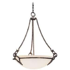 Pompeii 3 Light 24 Wide Etched White Glass Pendant Light
