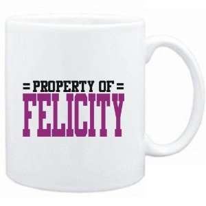Mug White  Property of Felicity  Female Names Sports