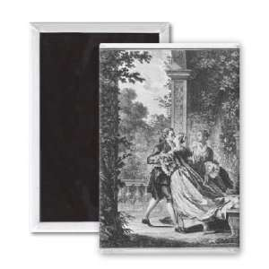 The first kiss of love, volume I, page 37,..   3x2 inch Fridge Magnet