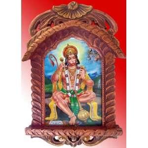 Pawan Putra Hanuman Doing Mediatation of Sita & Ram Poster