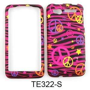 HTC Suave Transparent Design, Colorful Peace Signs on Pink