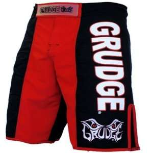 Grudge Fight Wear Aggressive Red MMA Shorts (Size=34
