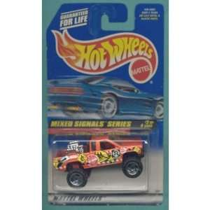 Mattel Hot Wheels 1998 164 Scale Mixed Signals Series Orange Nissan