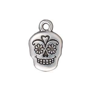 Silver Plated Pewter Dia De Los Muertos Sugar Skull