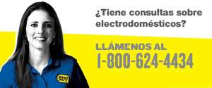 Tiene consultas sobre electrodomésticos? Llámenos al 1 866 752