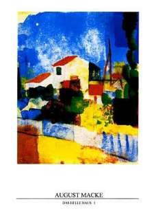 Das Helle Haus, 1 Version la Maison Clair Poster by August Macke at