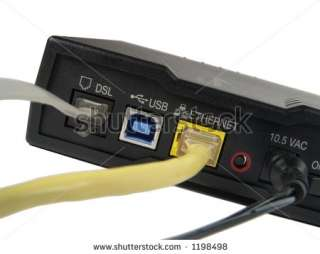 Dsl Broadband Modem Rear View Stock Photo 1198498  Shutterstock