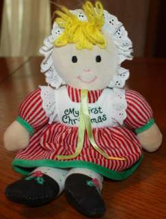 Lillian Vernon MY FIRST CHRISTMAS Soft Plush Baby DOLL
