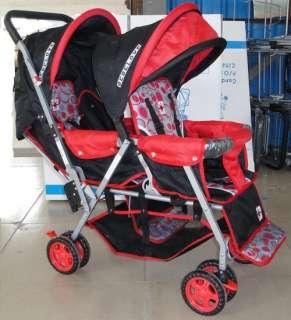 DOUBLE Stroller Baby Strollers RED BEBELOVE 2 Seats Multiple Multi