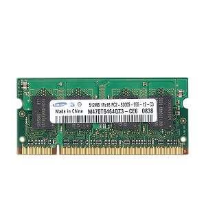 Samsung 512MB DDR2 RAM PC2 5300 200 Pin Laptop SODIMM M470T6464QZ3 CE6