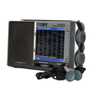 NEW COBY WORLDBAND AM/FM/LW/SW TUNER PORTABLE RADIO 12 BAND BATTERY