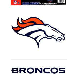 Broncos XL Logo Decals Removable Vinyl Sticker NFL Denver Broncos
