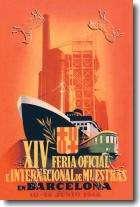 Vintage Travel Barcelona Posters at Barewalls