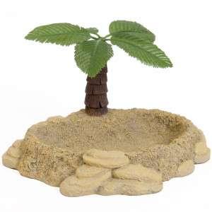 Things™ Hermit Crab Palm Tree Water Bowl Aquatic Ornament   Habitat
