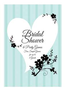 Two Love Birds Bridal Shower Party Game Book   Pink Frosting Party