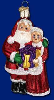 MR & MRS CLAUS OLD WORLD CHRISTMAS SANTA ORNAMENT 40190