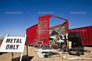 Scrap metal recycling dumpster.  Stock Photo © Greg Epperson