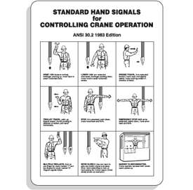 Crane Safety Signs   Hand Signal Graphics   Vertical