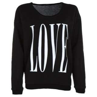 Womens › Tops › Wildfox › Wildfox Black Big Love Print Jumper
