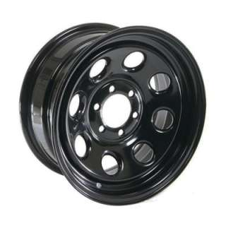 Cragar Soft 8 Black Steel Wheels 15x7 6x4.5 BC Set of 5