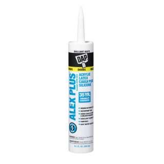 Alex Plus Acrylic Latex Caulk Plus Silicone, White, 10.1 oz Sealants