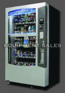 For sale is a NEW Vendo Vue Glass Front multi priced drink machine.