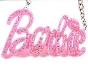 NEW NICKI MINAJ BARBIE Pink Stone Pendant w/18 Chain