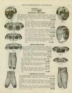 Catalog Page Ad Basketballs Football Helmets Pads 1939