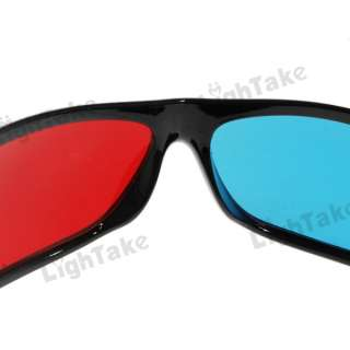Stylish Plastic Full Frame Red Blue Anaglyph Film 3D Glasses Features