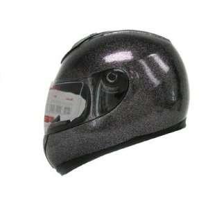 Black Motorcycle Full Face Sport Bike Helmet (Small) Automotive