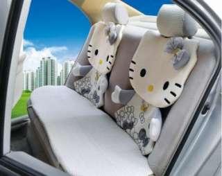 Hello Kitty auto Car Seat Cover Accessories Set 12 pcs gray