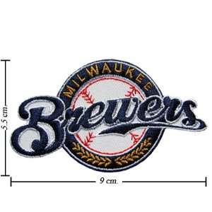 Milwaukee Brewers Logo Emrbroidered Iron on Patches Free