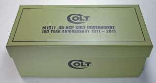 2011 NEW ZEALAND MINT, COLT M1911 .45 ACP 100 YEAR ANNIVERSARY SILVER