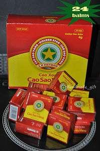 24 VIETNAM Golden Star Aromatic Balms natural remedy 4gr/balm FREE