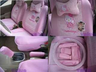 New Hello Kitty Cute Car Seat Covers 18pcs Pink