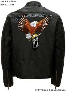 LARGE POW/MIA EAGLE EMBROIDERED MOTORCYCLE BIKER PATCH