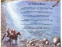 BARREL RACER Poem Prayer Personalized Name Cowboy Print