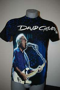 David Gilmour Pink Floyd Concert T Shirt Psychedelic