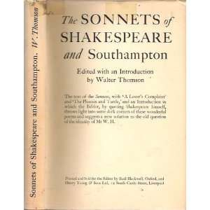 The Sonnets of Shakespeare and Henry Wriothesley, Third Earl
