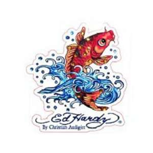 Ed Hardy Koi Fish Crystal Cling Bling Automotive